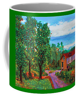 Coffee Mug featuring the painting Scene From Giverny by Deborah Boyd