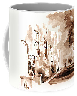 Coffee Mug featuring the painting School Days At Ursuline by Kip DeVore