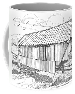 School House Covered Bridge Coffee Mug