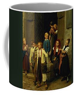 Schoolchildren Watching A Boy Cry Coffee Mug