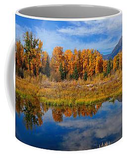 Schwabacher Autumn Reflections Panorama Coffee Mug