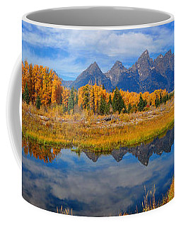 Schwabacher Autumn Reflections Panorama Coffee Mug
