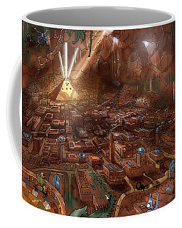 Coffee Mug featuring the painting Scorpion Valley by Reynold Jay