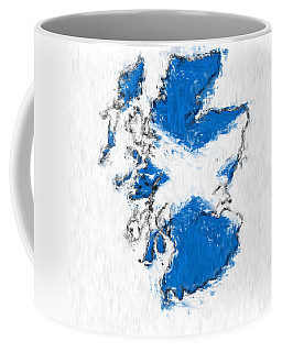 Scotland Painted Flag Map Coffee Mug