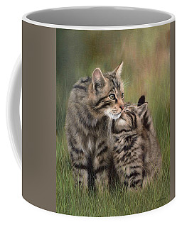 Scottish Wildcats Painting - In Support Of The Scottish Wildcat Haven Project Coffee Mug