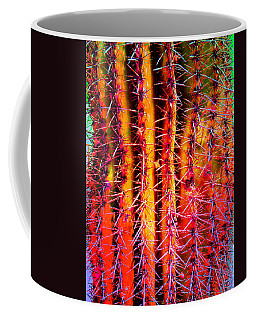 Coffee Mug featuring the mixed media Scottsdale Saguaro by Michelle Dallocchio