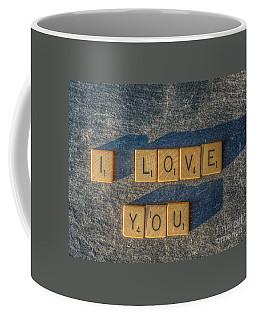 Scrabble I Love You Coffee Mug