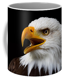 Coffee Mug featuring the photograph Screaming Bald Eagle by Nick  Biemans