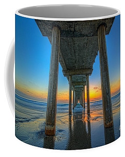 Scripps Pier Sunset Coffee Mug by Michael Ver Sprill