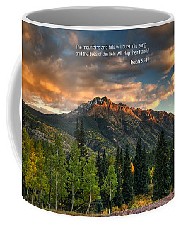 Scripture And Picture Isaiah 55 12 Coffee Mug
