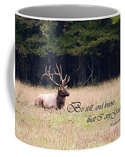Scripture Photo With Elk Sitting Coffee Mug