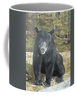 Coffee Mug featuring the painting Scruffy Again by Jan Dappen