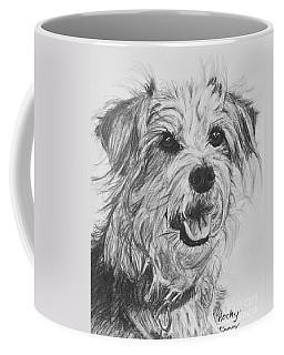Scruffy Terrier Dog Drawing Coffee Mug