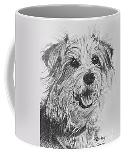 Scruffy Terrier Dog Drawing Coffee Mug