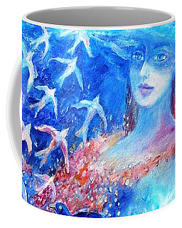 Coffee Mug featuring the painting Sea Dreaming  by Trudi Doyle