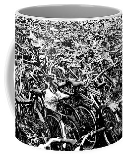 Coffee Mug featuring the photograph Sea Of Bicycles 3 by Joey Agbayani