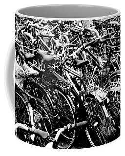 Coffee Mug featuring the photograph Sea Of Bicycles 2 by Joey Agbayani