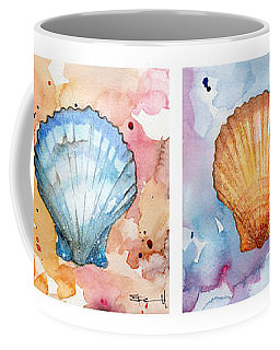 Sea Shells In Contrast Coffee Mug