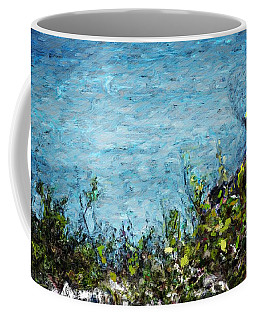 Coffee Mug featuring the digital art Sea Shore 1 by David Lane