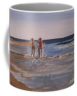 Sea Splashing On The Beach Coffee Mug