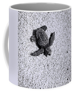Sea Turtle In Black And White Coffee Mug