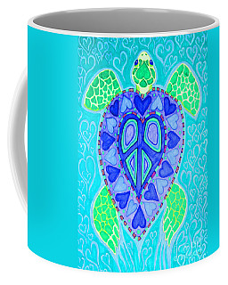 Sea Turtle Swim Coffee Mug by Nick Gustafson