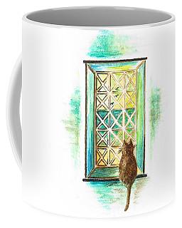 Curiosity - Cat Coffee Mug