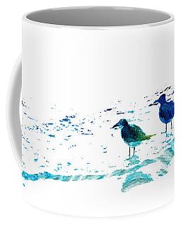 Seagull Art - On The Shore - By Sharon Cummings Coffee Mug