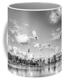 Coffee Mug featuring the photograph Seagulls by Howard Salmon