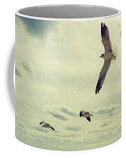 Seagulls In Flight Coffee Mug by Bradley R Youngberg