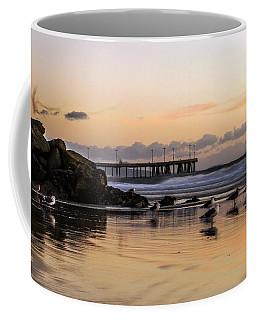Seagulls On The Coast Coffee Mug by Mike Ste Marie