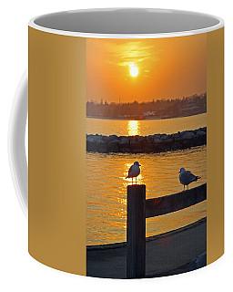 Seaguls At Sunset Coffee Mug