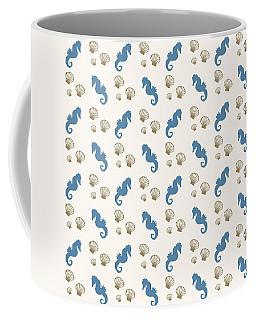 Seahorse And Shells Pattern Coffee Mug