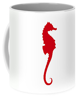 Seahorse In Red Coffee Mug