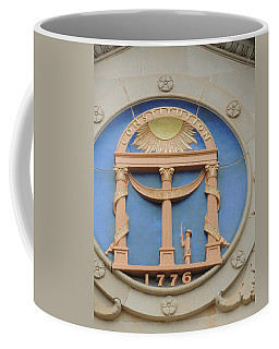 Coffee Mug featuring the photograph seal of Georgia by Aaron Martens
