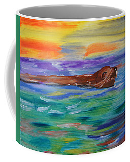 Coffee Mug featuring the painting Sunny Sea Lion by Meryl Goudey
