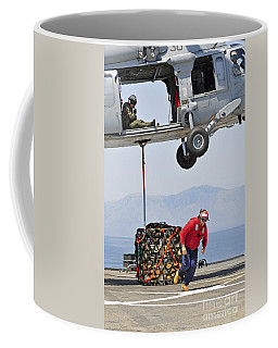 Seaman Hooks A Pallet To An Mh-60s Sea Coffee Mug