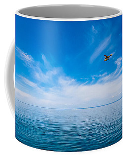 Seaplane Over Lake Superior   Coffee Mug