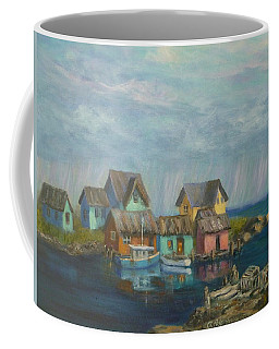 Seascape Boat Paintings Coffee Mug