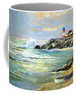 Seascape Lighthouse By Mary Krupa Coffee Mug
