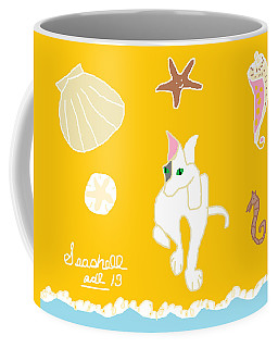 Coffee Mug featuring the painting Seashell by Anita Dale Livaditis