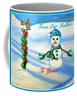 Seasons Greetings From Our Mailbox To Yours Coffee Mug by Kimberlee Baxter