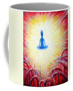 Coffee Mug featuring the painting Seat Of The Soul by Heather Calderon