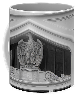 Coffee Mug featuring the photograph Seated Eagle by Adria Trail