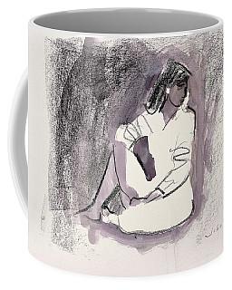 Seated Figure, 1999 Wax Crayon And Wash On Paper Coffee Mug