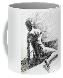 Seated Male Back Coffee Mug