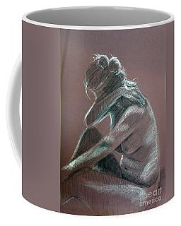Seated Woman Side Light Coffee Mug