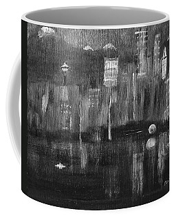 Seattle Black And White Coffee Mug