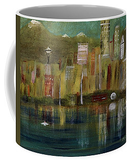 Seattle Cityscape Coffee Mug by Dick Bourgault