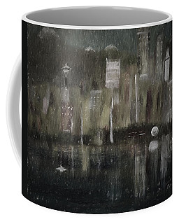 Seattle In The Rain Cityscape Coffee Mug